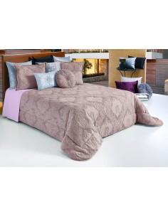 Colcha edredão nórdico em algodão orgânico jacquard ninho de abelha em rosa velho com almofadas decorativas 50x60 cm