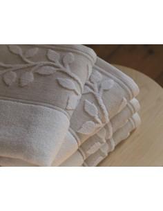 Jogo de 3 toalhas em micro algodão e linho natural - Portugal Natura