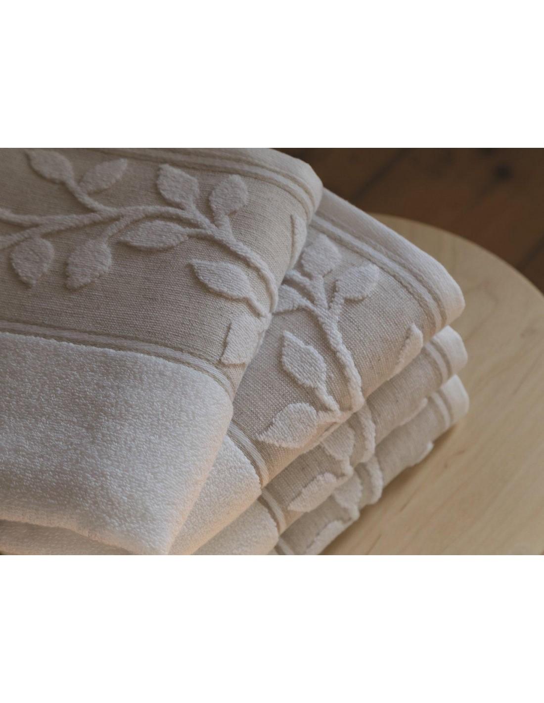 Comprar juego de toallas en micro algod n y lino natural portugal natura toallas - Toallas de algodon ...