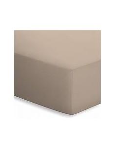 Sábana bajera ajustable 140x200 cm + 30 cm - Sábana bajera cama 140 - Sábana taupe algodón percal