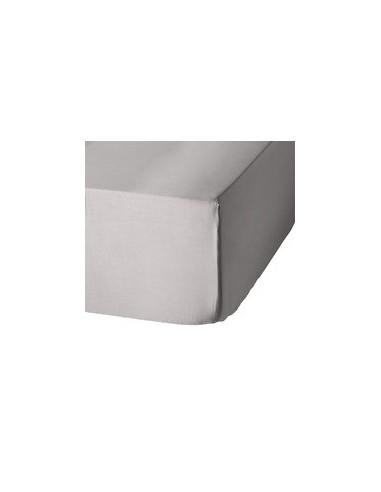 lençol de baixo ajustável 140x200 + 30 cm - Lençol capa cama 140 - Lençol cinzento perla algodão percal