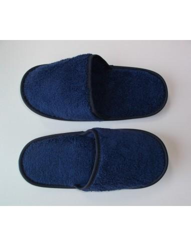 Zapatillas de baño en micro algodón extra suave color azul marino - Portugal Natura