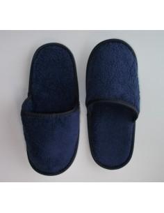 chinelos de banho em micro algodão extra suave cor azul marinho - Portugal Natura