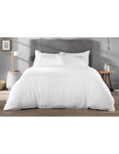 160x220 cm / funda nórdica algodón percal 200 hilos color blanco