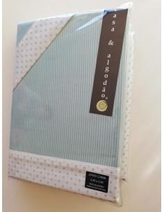 Jogo de lençóis cama 150/160 cm - 100% algodão estampado digital