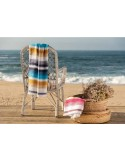 Pareo praia com franjas cores vivas 100x170 cm - BomDia