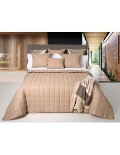 Colcha Bouti 100% algodão | Colcha decorativa ligeira para verão cor taupe