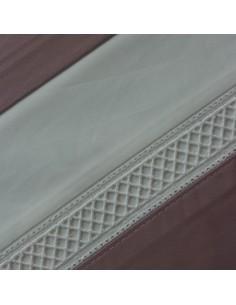 ROSA - Jogo de lençóis 100% algodão percal branco com renda aplicada