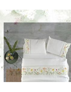 Cama 180 cm - Jogo de lençóis 100% algodão percal - Country Gamanatura