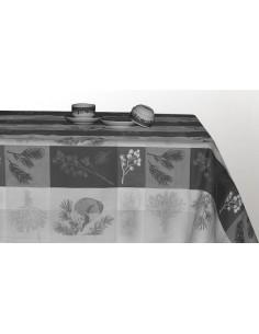 Toalha de Mesa de 1x1 metro 100% algodão jacquard - Toalha para mesa 90x90 cm