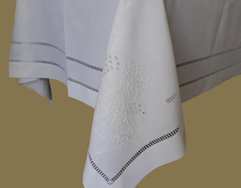 Comprar 180x350 Mantel de lino Bordado A Mano Mantel