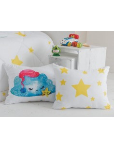 Colcha infantil Goodnight - Colcha infantil con cojines a juego