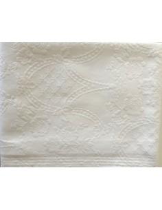 220X260 cm colcha de verano blanca 100% algodón - Colcha verano cama 135/140