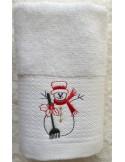1 Toalla 30x30 de navidad bordada - Lencería de baño 100% algodón -DeVilla