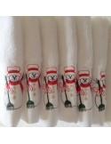 1 toalha 30x30 cm bordada - Toalha de mão 100% algodón