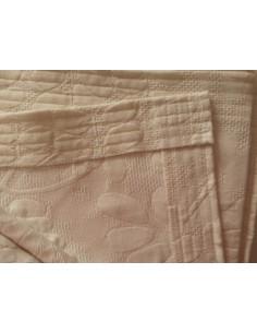 220x260 cm colcha de verao 100% algodão Messina Bege