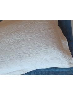 50x70 cm - Funda de almohada 100% algodón Blanco