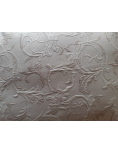 50x50 cm - Funda de cojín 100% algodón jacquard beige