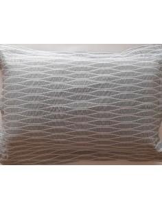 50x70 cm - Funda de cojín 100% algodón jacquard Gris