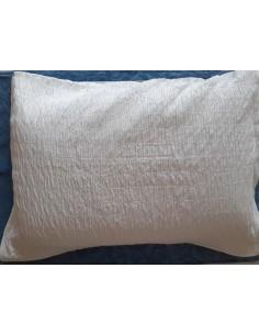 50x70 cm - Funda de cojín 100% algodón blanco