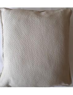 50x50 cm - Funda de cojín 100% algodón Taupe