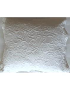 50x50 cm - Funda de cojín 100% algodón blanco