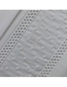 BRANCO - Jogo de lençóis 100% algodão percal branco 200x200+30 cm