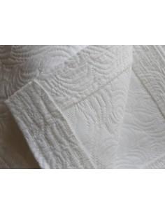 180X260 cm colcha de verano blanca 100% algodón - Colcha verano cama 90 cm
