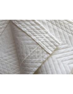 220X260 cm colcha de verano blanca 100% algodón - Colcha verano cama 135 cm