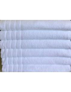 Toallas blancas 100% algodón - Toallas de hotel, spa, centros de belleza, estética