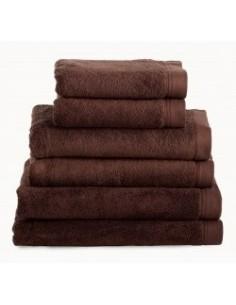 Toallas baño 100% algodón peinado 580 gr. color marrón chocolate