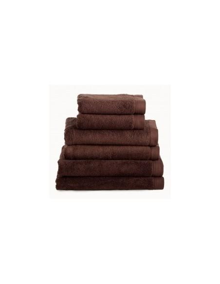 Toalhas de banho 100% algodão penteado 580 gr. cor castanho chocolate