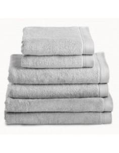 Toallas baño 100% algodón peinado 580 gr. color gris