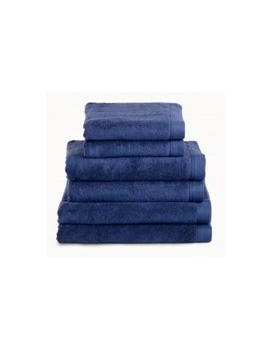 Toallas baño 100% algodón peinado 580 gr. color azul marino