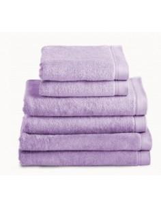 Toallas baño 100% algodón peinado 580 gr. color lila