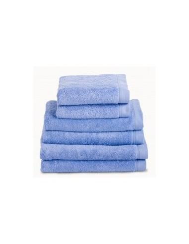 Toallas baño 100% algodón peinado 580 gr. color azul oceano