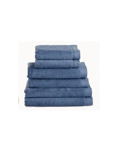 Toallas baño 100% algodón peinado 580 gr. color azul petroleo