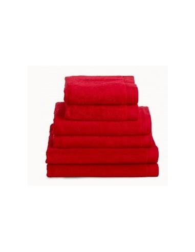 Toallas baño 100% algodón peinado 580 gr. color rojo
