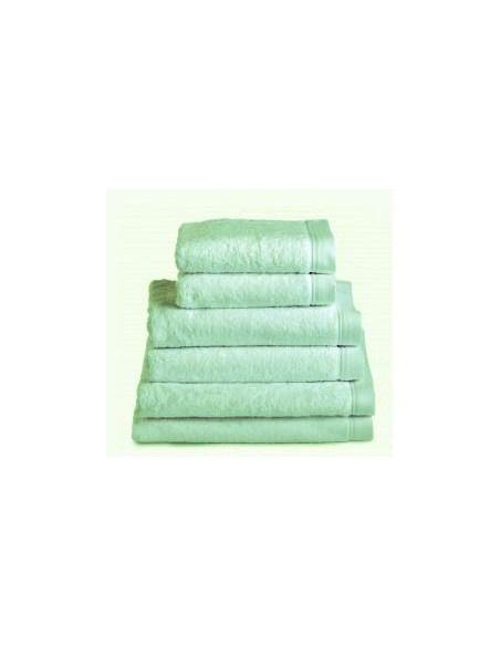 Toallas baño 100% algodón peinado 580 gr. color verde pastel