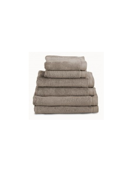 Toallas baño 100% algodón peinado 580 gr. color taupe