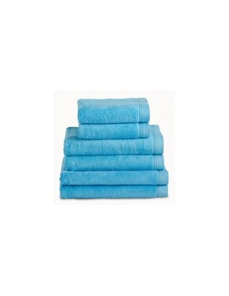 Toallas baño 100% algodón peinado 580 gr. color turquesa