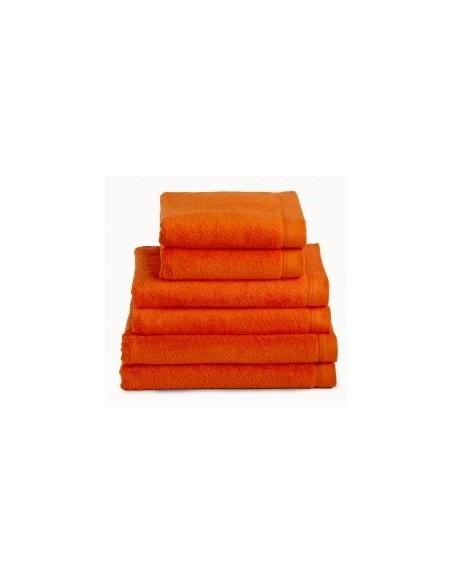 Toallas baño 100% algodón peinado 580 gr. color naranja