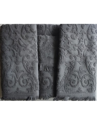 6 Toalhas de banho jacquard - 550 gr/m2 - 100% algodão