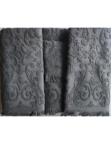 6 Toallas de baño jacquard - 550 gr/m2 - 100% algodón