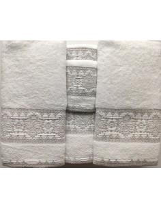 6 toallas de baño jacquard - 550 gr/m2 - 95% Cotton 5% Lino