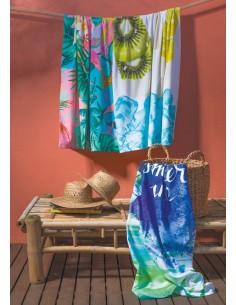 100x180 cm - Toalha de praia 100% algodão Laminado, 360 g/m², Estampado digital