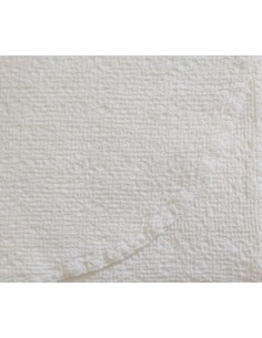 320x260 cm colcha de verano blanca 100% algodón - Colcha verano cama 200 cm