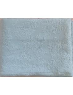 240x260 cm Colcha de verano azul celeste 100% algodón - Colcha verano cama 140/150 cm