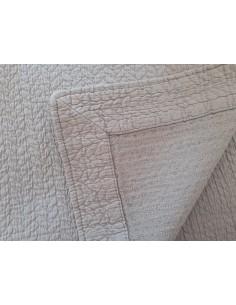 240x260 cm colcha de verao cinza claro 100% algodão para cama de 140/150 cm