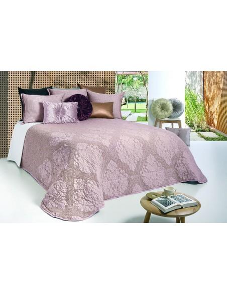 Colcha edredão nórdico em algodão favo cor rosa velho almofadas decorativas 50x60 cm